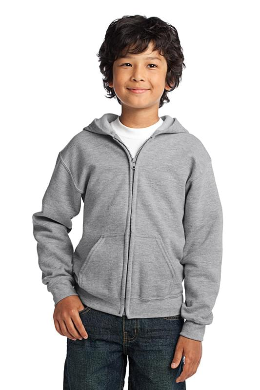 Gildan ®  Youth Heavy Blend ™  Full-Zip Hooded Sweatshirt. 18600B