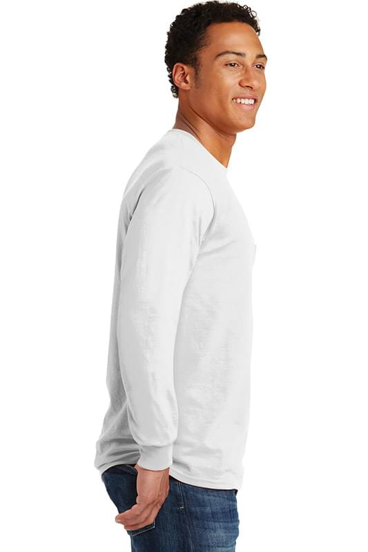 Gildan ®  - Ultra Cotton ®  100% Cotton Long Sleeve T-Shirt with Pocket.  2410