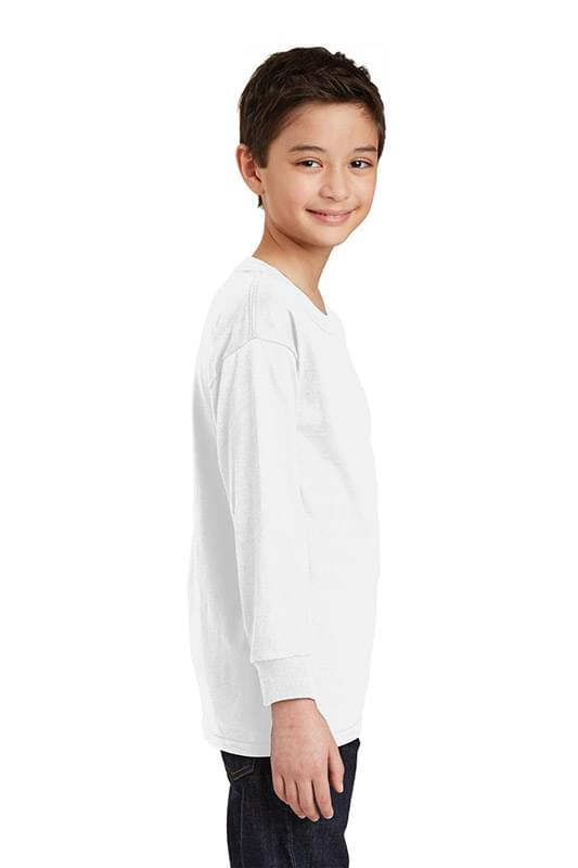 Gildan ®  Youth Heavy Cotton ™  100% Cotton Long Sleeve T-Shirt. 5400B