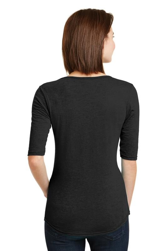 Anvil ®  Ladies Tri-Blend Deep Scoop Neck 1/2-Sleeve Tee. 6756L