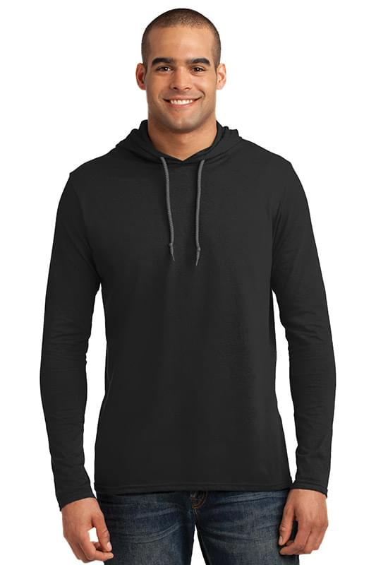 Anvil ®  100% Combed Ring Spun Cotton Long Sleeve Hooded T-Shirt. 987