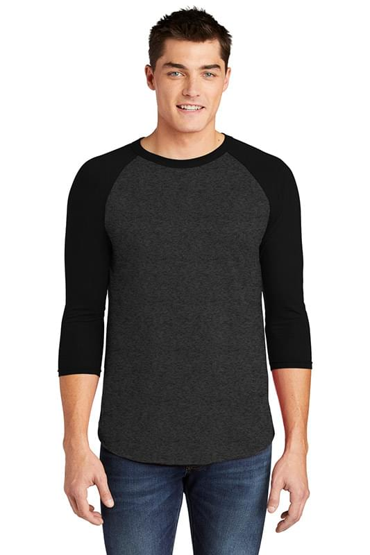American Apparel  ®  Poly-Cotton 3/4-Sleeve Raglan T-Shirt. BB453W