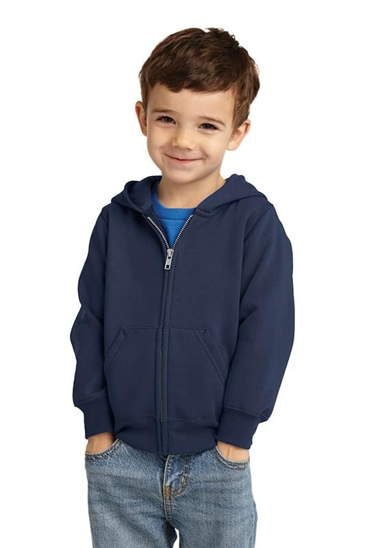Port & Company ®  Toddler Core Fleece Full-Zip Hooded Sweatshirt. CAR78TZH