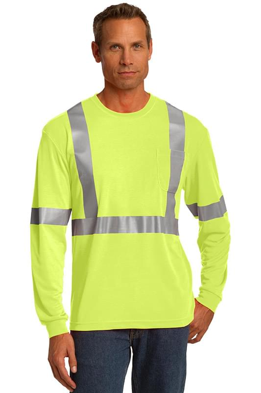 CornerStone ®  ANSI 107 Class 2 Long Sleeve Safety T-Shirt. CS401LS