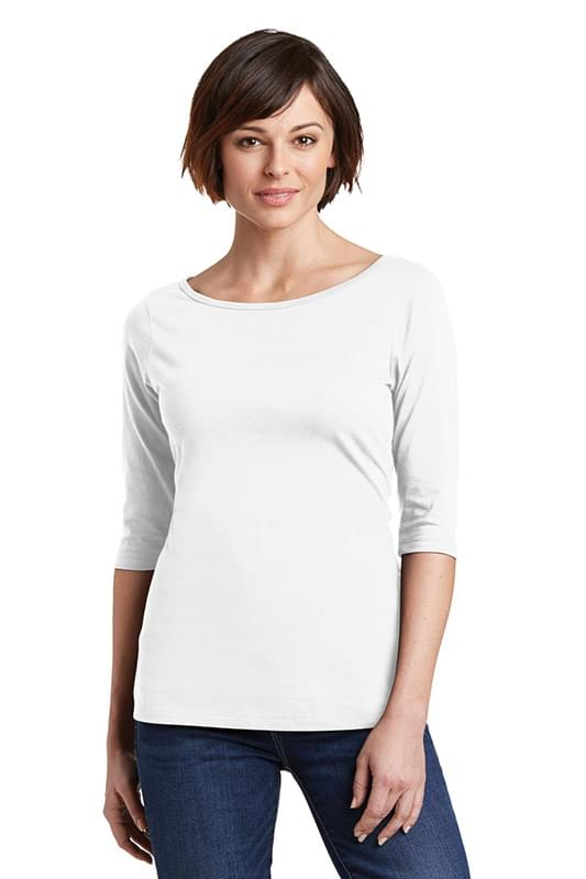 District ®  Women's Perfect Weight ®  3/4-Sleeve Tee. DM107L