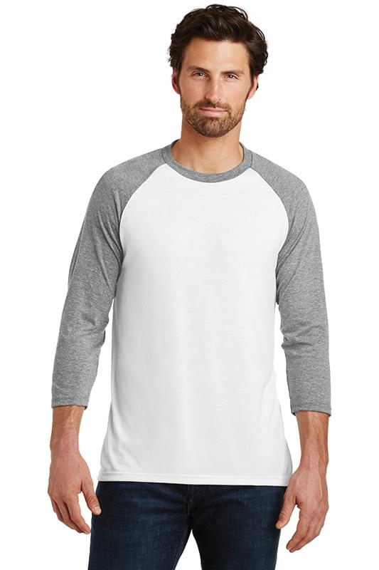 District  ®  Perfect Tri ®  3/4-Sleeve Raglan. DM136
