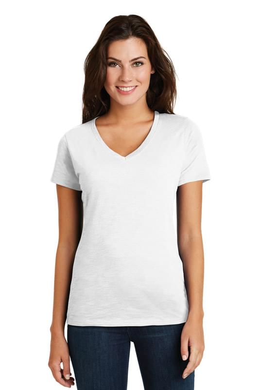 District  ®  Women's Super Slub ®  V-Neck Tee. DM3501
