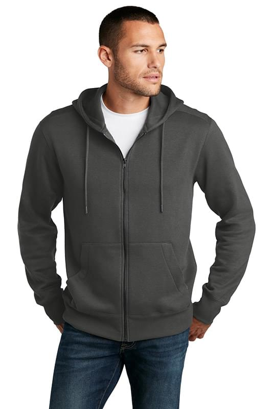 District  ®  Perfect Weight  ®  Fleece Full-Zip Hoodie DT1103