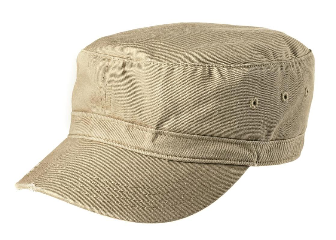 District ®  Distressed Military Hat.  DT605