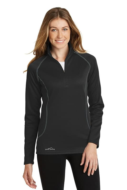 Eddie Bauer ®  Ladies Smooth Fleece Base Layer 1/2-Zip. EB237