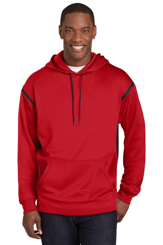 Sport-Tek ®  Tech Fleece Colorblock Hooded Sweatshirt. F246