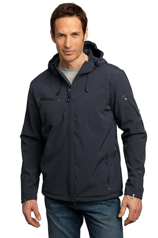 Port Authority ®  Textured Hooded Soft Shell Jacket. J706