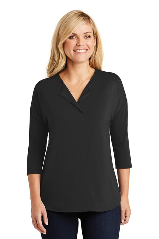 Port Authority ®  Ladies Concept 3/4-Sleeve Soft Split Neck Top. LK5433