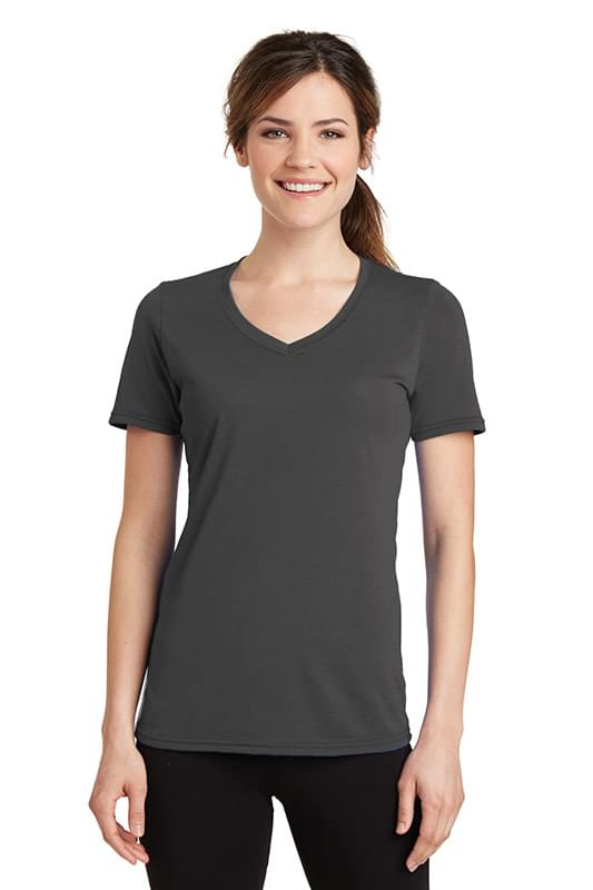 Port & Company ®  Ladies Performance Blend V-Neck Tee. LPC381V