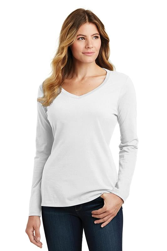 Port & Company ®  Ladies Long Sleeve Fan Favorite V-Neck Tee. LPC450VLS