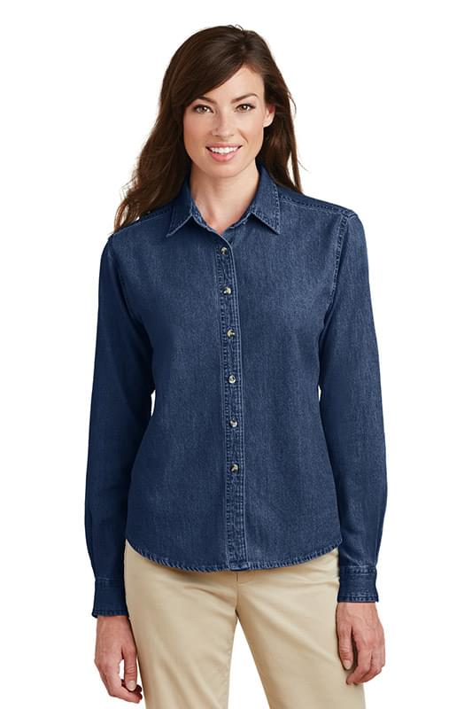 Port & Company ®  - Ladies Long Sleeve Value Denim Shirt.  LSP10