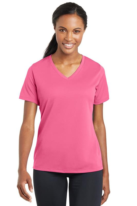 Sport-Tek ®  Ladies PosiCharge ®  RacerMesh ®  V-Neck Tee. LST340