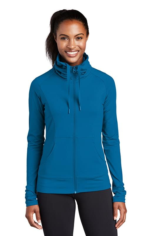Sport-Tek ®  Ladies Sport-Wick ®  Stretch Full-Zip Jacket. LST852