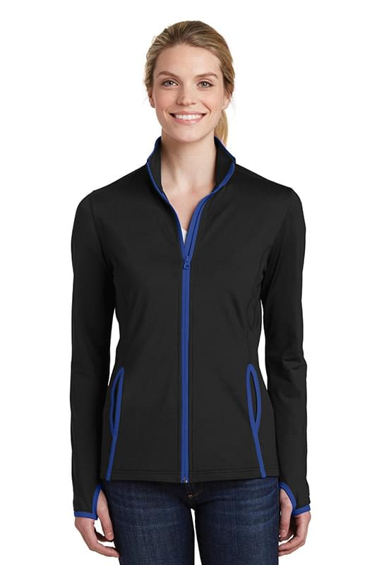 Sport-Tek ®  Ladies Sport-Wick ®  Stretch Contrast Full-Zip Jacket.  LST853