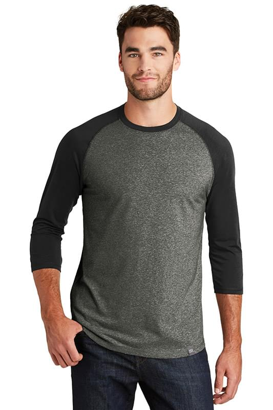 New Era  ®  Heritage Blend 3/4-Sleeve Baseball Raglan Tee. NEA104
