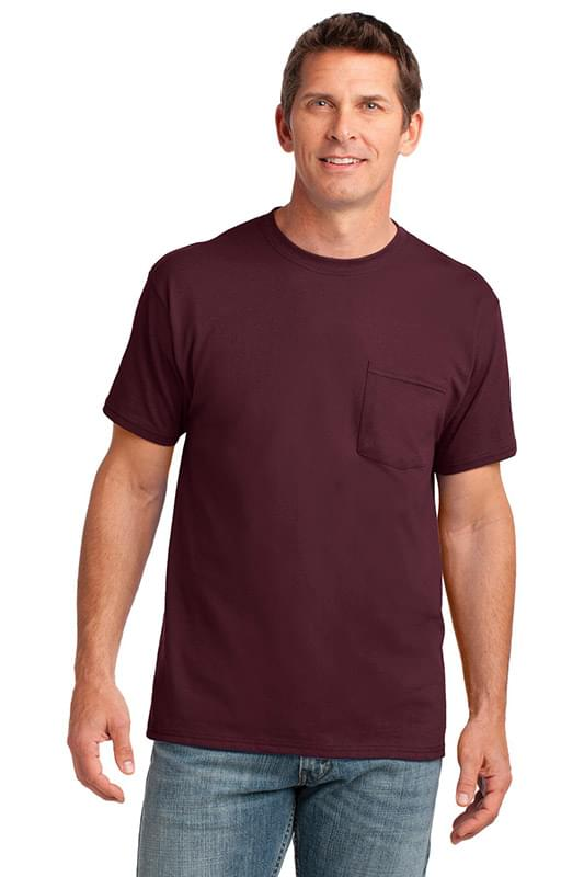 Port & Company ®  Core Cotton Pocket Tee. PC54P