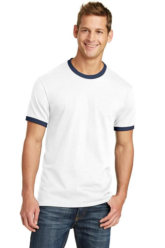 Port & Company ®  Core Cotton Ringer Tee.  PC54R