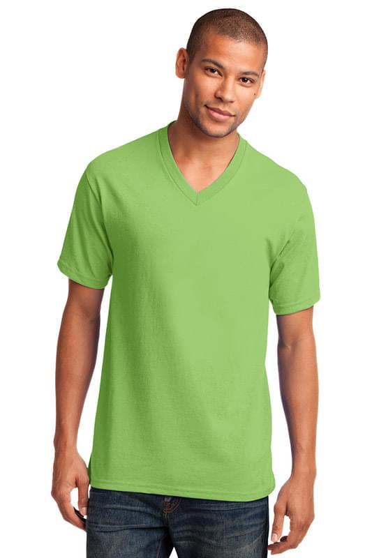 Port & Company ®  Core Cotton V-Neck Tee. PC54V