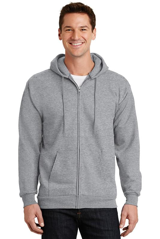 Port & Company ®  -  Essential Fleece Full-Zip Hooded Sweatshirt.  PC90ZH