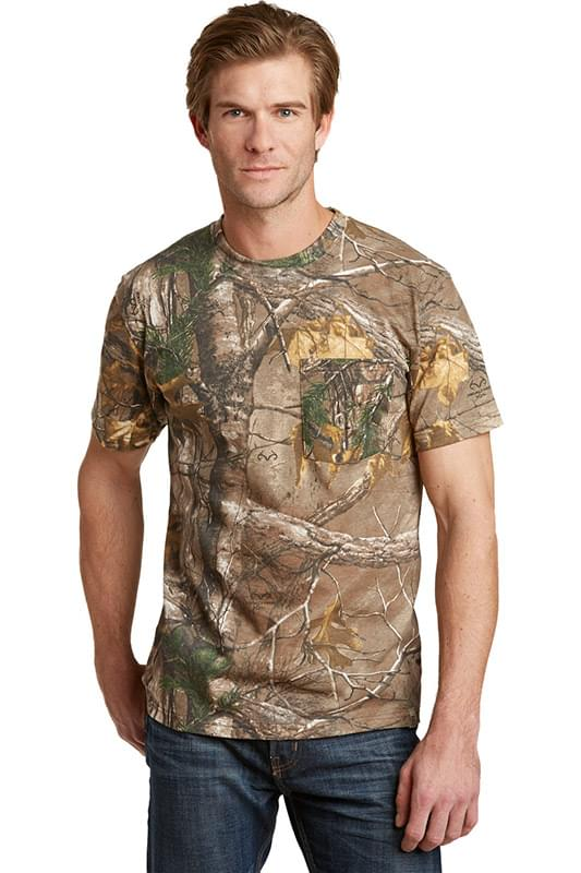 Russell Outdoors ™  - Realtree ®  Explorer 100% Cotton T-Shirt with Pocket. S021R