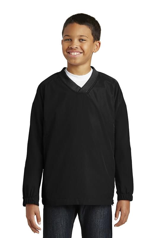Sport-Tek ®  Youth V-Neck Raglan Wind Shirt. YST72