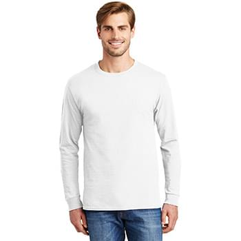 Hanes ®  - Authentic 100% Cotton Long Sleeve T-Shirt.  5586