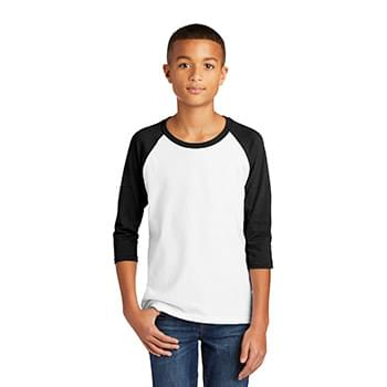 Gildan  ®  Heavy Cotton  ™  Youth 3/4-Sleeve Raglan T-Shirt. 5700B