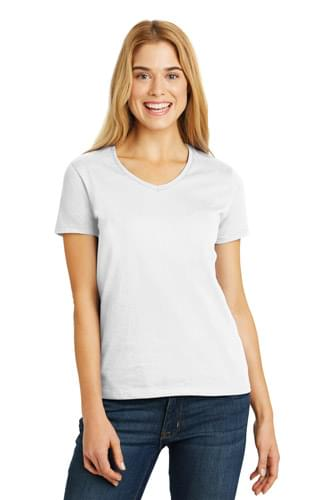 Hanes ®  Ladies ComfortSoft ®  V-Neck Tee. 5780