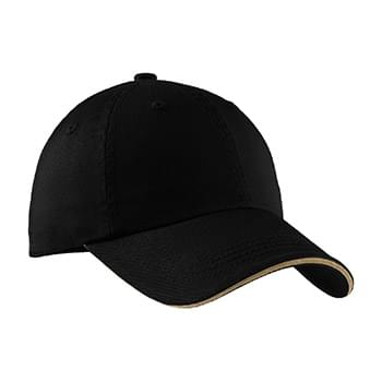 Port Authority ®  Sandwich Bill Cap with Striped Closure.  C830