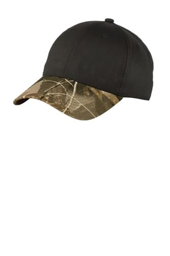 Port Authority ®  Twill Cap with Camouflage Brim. C931