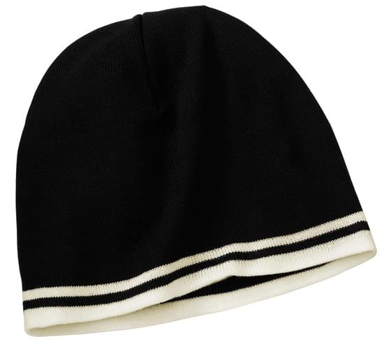 Port & Company ®  Fine Knit Skull Cap with Stripes.   CP93