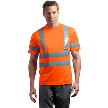 CornerStone ®  - ANSI 107 Class 3 Short Sleeve Snag-Resistant Reflective T-Shirt. CS408