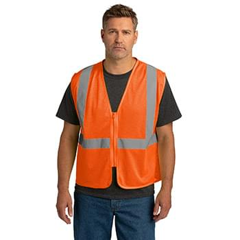 CornerStone  ®  ANSI 107 Class 2 Economy Mesh Zippered Vest. CSV101