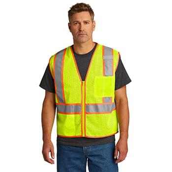 CornerStone  ®  ANSI 107 Class 2 Mesh Zippered Two-Tone Vest. CSV103