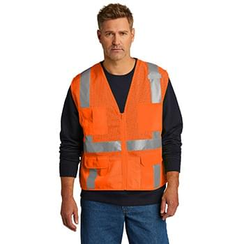 CornerStone  ®  ANSI 107 Class 2 Mesh Six-Pocket Zippered Vest. CSV104