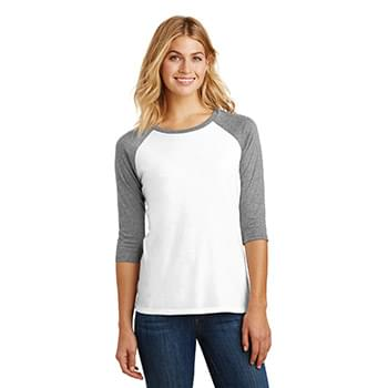 District ®  Women's Perfect Tri ®  3/4-Sleeve Raglan. DM136L