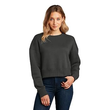 District  ®  Women's Perfect Weight  ®  Fleece Cropped Crew DT1105