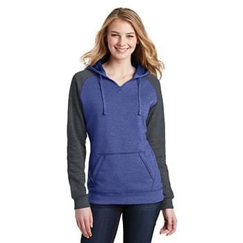 District ®  Women's Lightweight Fleece Raglan Hoodie.  DT296