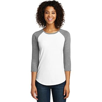 District ®  Women's Fitted Very Important Tee ®  3/4-Sleeve Raglan. DT6211