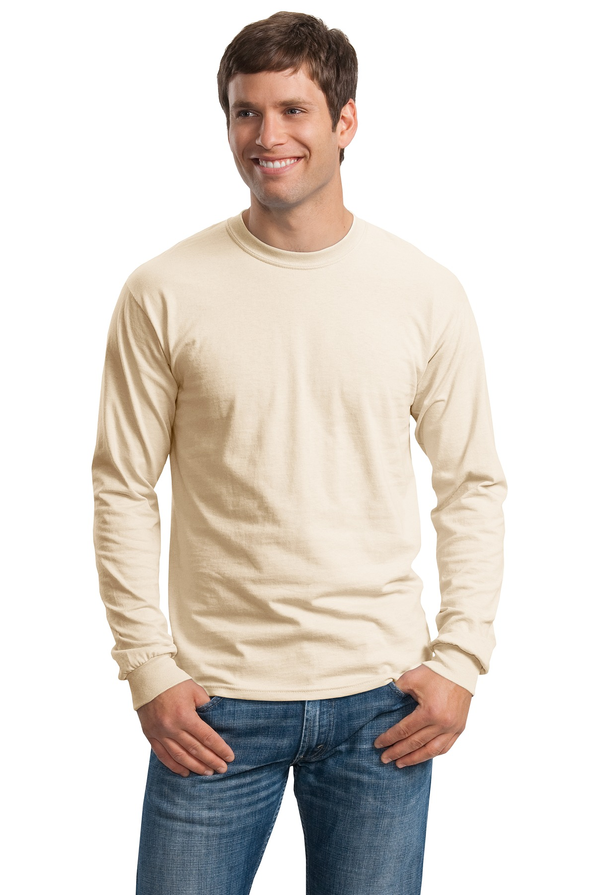 Gildan ®  - Ultra Cotton ®  100% Cotton Long Sleeve T-Shirt.  G2400