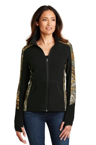 Port Authority ®  Ladies Camouflage Microfleece Full-Zip Jacket. L230C