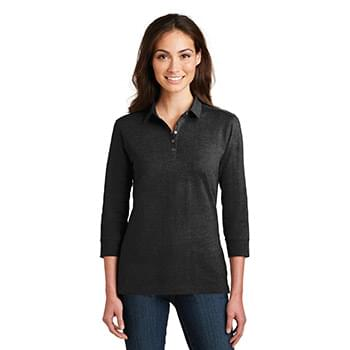 Port Authority ®  Ladies 3/4-Sleeve Meridian Cotton Blend Polo. L578
