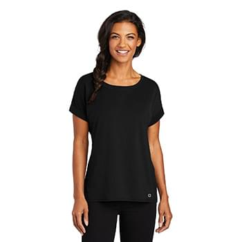 OGIO  ®  Ladies Luuma Cuffed Short Sleeve. LOG800