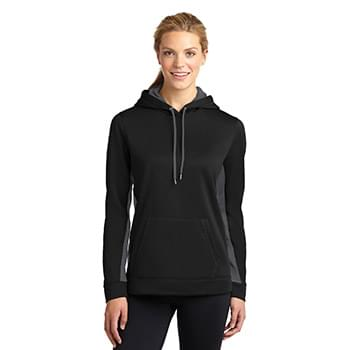 Sport-Tek ®  Ladies Sport-Wick ®  Fleece Colorblock Hooded Pullover. LST235
