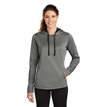 Sport-Tek  ®  Ladies PosiCharge  ®  Sport-Wick  ®  Heather Fleece Hooded Pullover. LST264